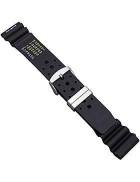 Uhrbanddealer 22mm Ersatzband Uhrenarmband Schwarz
