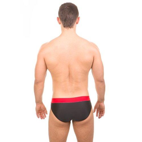 Aqua Speed Artur Maillot de bain pour homme Lettre Pantalon Slip de Natation Artur /16 schwarz-rot