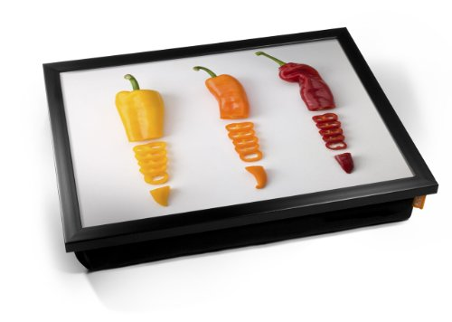 Sliced Chillies Chili Pepper Cushion Lap Tray