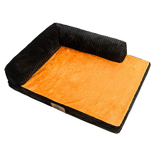 TENCMG Pet Bed Cat Cats - Éponge Interne Haute densité en nid de Velours de Coton pour nid de Chaton, Lavable en Machine,D,M