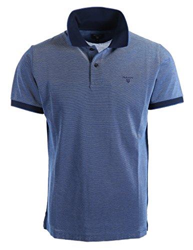 GANT Herren Poloshirt Four-Color Piqué Rugger Blau