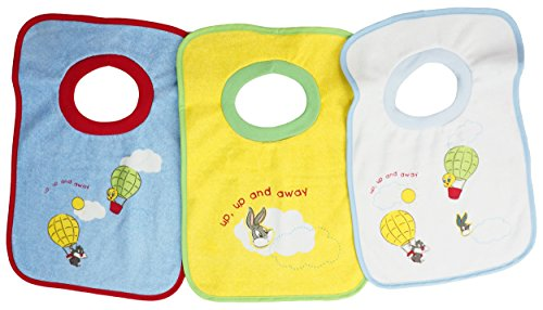 3 x Baby Schlupflätzchen, Lätzchen aus Frottee Unisex Set Looney Tunes