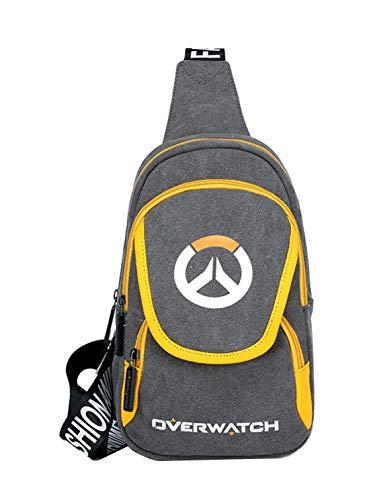 (Cmbyn Overwatch Printed Messenger Tasche Jungs Oxford-Tuch Chest Tasche Herren Klein Umhängetasche Mode Sport Crossbody Bags)