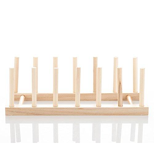 Bamboo Teller-rack (mylifeunit Gericht Halter Rack, Holz Teller Rack Topf Deckel Organizer)
