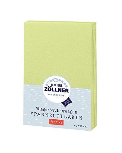 Julius Zöllner 8310013340 - Spannbetttuch Frottee für die Wiege, Größe: 90 x 40 cm, Farbe: grün