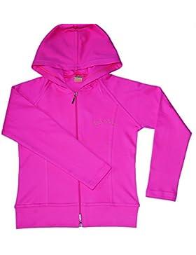 Pink Mädchen Sweatshirt Active Wear mit Reißverschluss und Kapuze Alter 8 - 14 Jahre, Größe 128 - 164