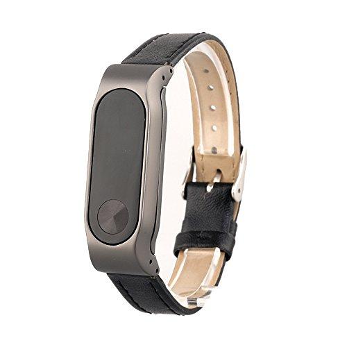 VAN+ Unisex verstellbar Leder Handgelenk Band Ersatz-Armband Strap für Xiaomi Mi Band 2 Smart Armband - 3