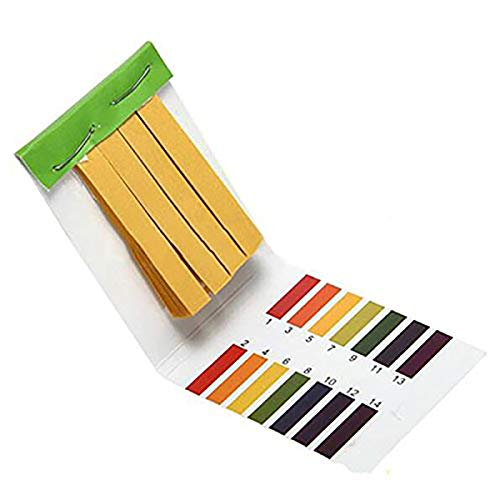 3 Set 240 Profi-Streifen 1-14 pH Lithium-Papier Teststreifen ph Wasserkosmetik Boden pH Test Papierstreifen mit Kontrollkarte (Home-blut-test)