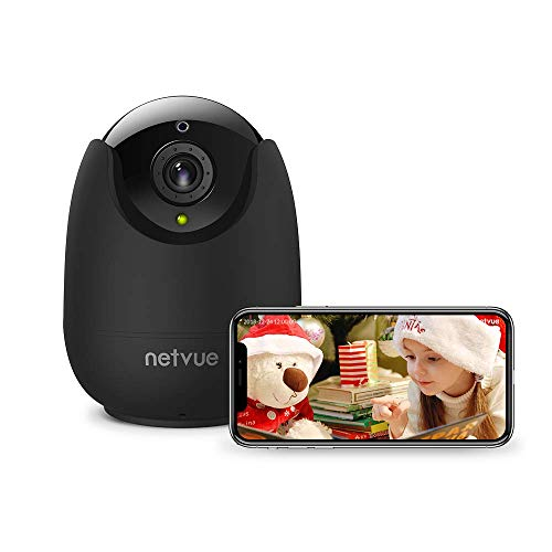 IP Camera, Netvue HD Wireless Home Cam Compatible with Alexa Echo Show,360  Degree Security WiFi Camera with Pan/Tilt/Zoom,Two-Way Audio,Night