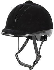 Harry 's Horse Mujer Seguridad–Casco de equitación Flock, 30210031, todo el año, mujer, color negro, tamaño L/L