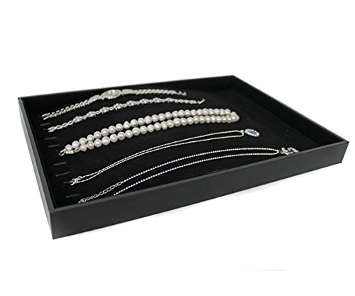 Yudu® Samt Schmuckkasten Vorlagebrett für Lange Ketten Armbänder Halsketten schwarz