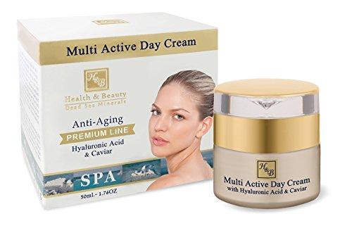 H & B Dead Sea Premium Line Multi-active day cream with hyaluronic acid and caviar 50ml / 1.76fl.oz -