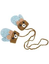 Bébé Gant Tricoté Moufle avec Corde anti-perdu Cartoon Gant Plein-doigt  d Automne Hiver Mitaine Animaux Mignonne… 9c4400e5c9b