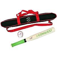 Sure Shot Conquest - Juego de bate y pelota de béisbol con funda, color verde