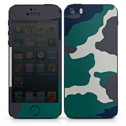 Apple iPhone 5s Case Skin Sticker aus Vinyl-Folie Aufkleber Camouflage Bundeswehr Tarn Muster DesignSkins® glänzend