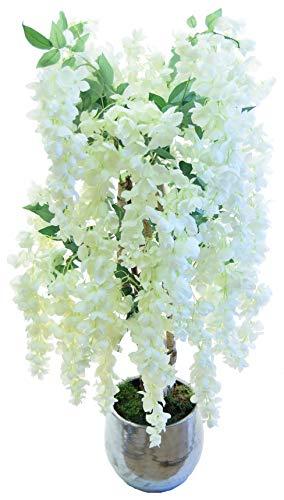 Maia Shop Wisteria weiße Stämme aus den besten Materialien, ideal für Dekoration zu Hause, künstlicher Baum (105 cm) (Zu Haus Von Baum)