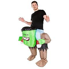 Idea Regalo - Costume di Halloween gonfiabile, Frankenstein per adulti