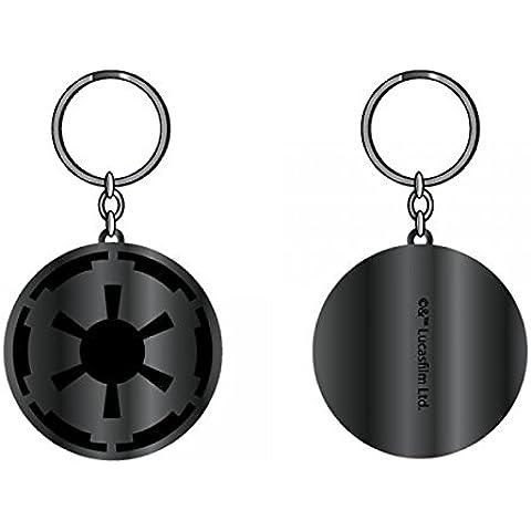 Portachiavi, motivo: Star Wars, colore: nero/piombo Impirial nuova licenza ke2cf7stw in metallo - Piombo Portachiavi