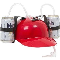 Casco de Cerveza y Gaseosa para Comilones - Sombrero para Bebidas Rojo de EZ Drinker