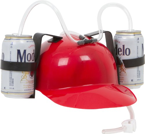 Drinker Beer & Soda Guzzler Helm, Jungen, EZ-Helmet-RED, rot, Einheitsgröße (Kostüm Red Soda)