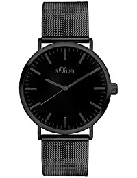 s.Oliver Damen Analog Quarz Armbanduhr mit Edelstahlarmband SO-3216-MQ
