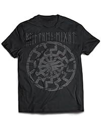 Heathen Might - Schwarze Sonne T-Shirt   Sonnenrad, Asatru, Pagan Metal, Black Metal, Heidentum