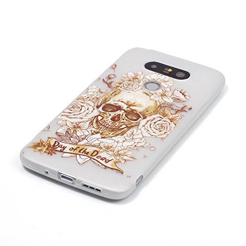 Per iPhone 6 6S (4,7 Zoll) , iPhone 6 6S (4,7 Zoll) Custodia,Cozy Hut Warm Ultra Sottile Nottilucenti Luminoso Flessibile TPU Silicone Custodia Protettiva Cover Case per iPhone 6 6S (4,7 Zoll) - ti am Skull Rose