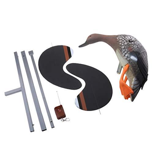 B Blesiya Elektrische Fliegende Ente mit Fernbedienung, mit schwenkenden Flügel, efffektive Ihre Garten zu schützen - Weibliche Ente -