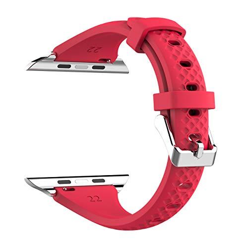 Für Apple Watch Armband 38/40mm Kppto, ultra-dünnes Silikon Apple Watch Armband Ersatz Sportarmband für iWatch Serie 3 2 1 S / M M / L Größe 38 / 40mm -