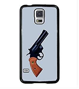 HiFi High Glossy Designer Phone Back Case Cover Samsung Galaxy S5 :: Samsung Galaxy S5 G900I :: Samsung Galaxy S5 G900A G900F G900I G900M G900T G900W8 G900K ( Gun Ready to fire )