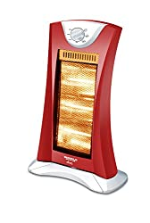 Maharaja Whiteline Diva 1200-Watt Halogen Heater (Red/Silver)