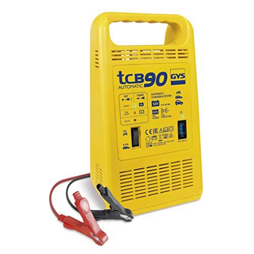 Gys GYS-023260-TCB TCB 90-Chargeur AUTOMATIQUE-230V-LIVRE avec Pinces DE Charge ISOLEES