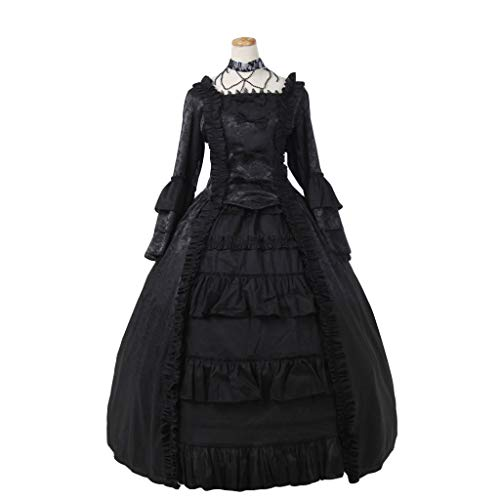 COUCOU Age Viktorianisches Rokoko Kleid Königspalast Königin Bustle Kleid ()