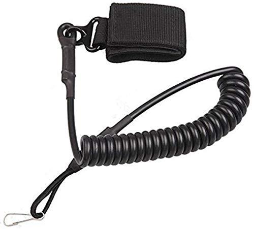 Yosoo Einstellbare Taktische Pistole Lanyard Sling Elastische Handgürtelkette Sichere Feder