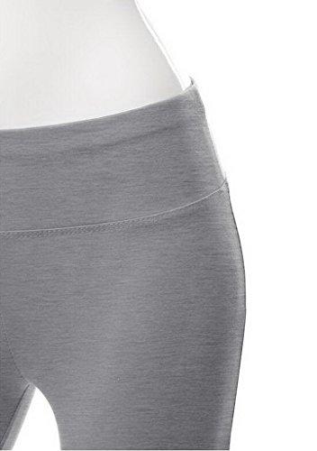 Smile YKK Pantalon de Sport Femme Pantalons Longues Yoga Gym Jogging Sport Casual Confortable Gris