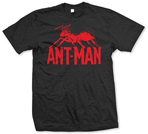 Rockoff Trade Herren T-Shirt Ant Man Logo Schwarz