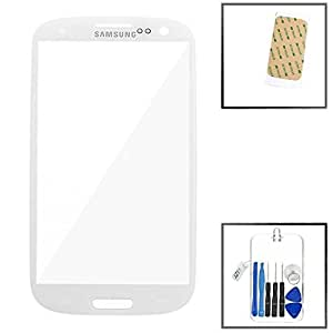 Samsung Galaxy S3 III GT-i9300 ~ White Front Glass (LCD Display and Touch Screen not included) ~ Mobile Phone Repair Part Replacement