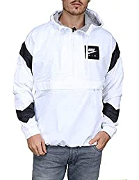 Nike M NSW Air JKT HD WVN Chaqueta, Hombre, Blanco (White/Black