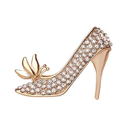 HFJ&YIE&H heißer Verkauf leuchtenden Kristall Schmetterling Schuhe mit hohen Absätzen Brosche für Frauen , one size (Trachten Schmuck Zum Verkauf)