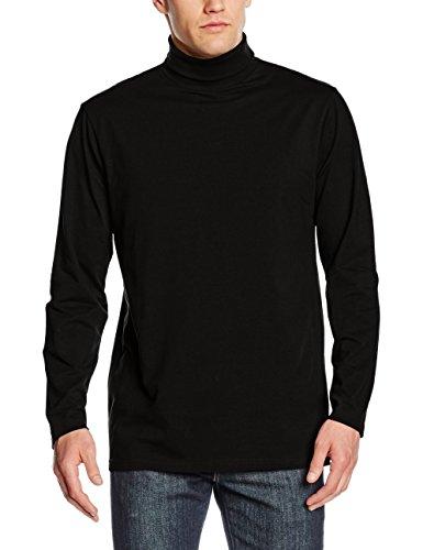 Henbury Herren Rollkragen-Sweatshirt, langärmlig, hoher Baumwollanteil (Medium) (Schwarz) (Rollkragen-pullover)