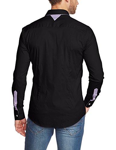 Redbridge R41611 - Chemise casual - Coupe droite - Manches Longues - Homme Noir