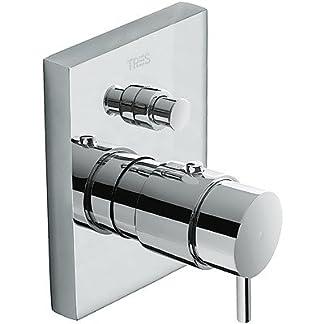 Termostática de empotrar baño‑ducha con cierre y regulación de caudal. · Cuerpo empotrado incluido
