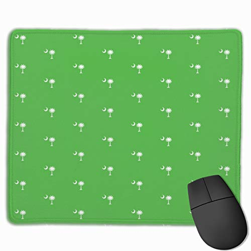 SC Flag Palmetto Moon Lime Green South Carolina_43005 Mouse pad Custom Gaming Mousepad Nonslip Rubber Backing 9.8