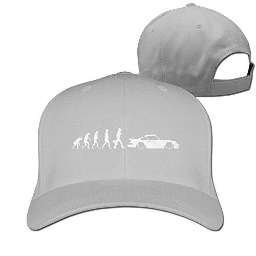 Huseki PEvolution of porsche 911 Truck caps Cool Men Women hat Black (5 colors) Lightgrey