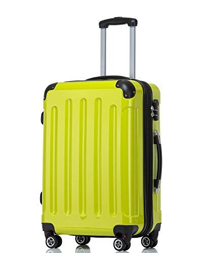 Zwilling 2048 - Juego de maletas con ruedas,rígidas, de viaje, tamaños M, L y XL, en 14colores, verde, medium