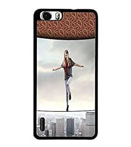 PrintDhaba Balancing Girl D-2954 Back Case Cover for HUAWEI HONOR 6 (Multi-Coloured)