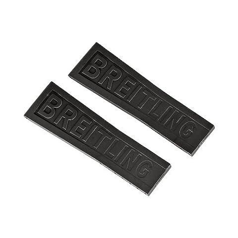 Breitling Bracelet en Caoutchouc Noir 24/20155S