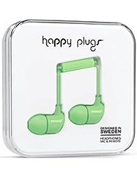 Happy Plugs 7715 Écouteurs avec Embouts S/M/L en Silicone, Micro et Télécommande - Vert Menthe