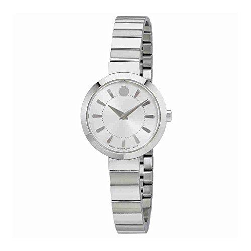 Movado Dial de damas acero reloj 0606890 Plata