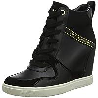 Tommy Hilfiger Dressy Sneaker Wedge Women's Sneakers, Black 900, 5 UK (38 EU)